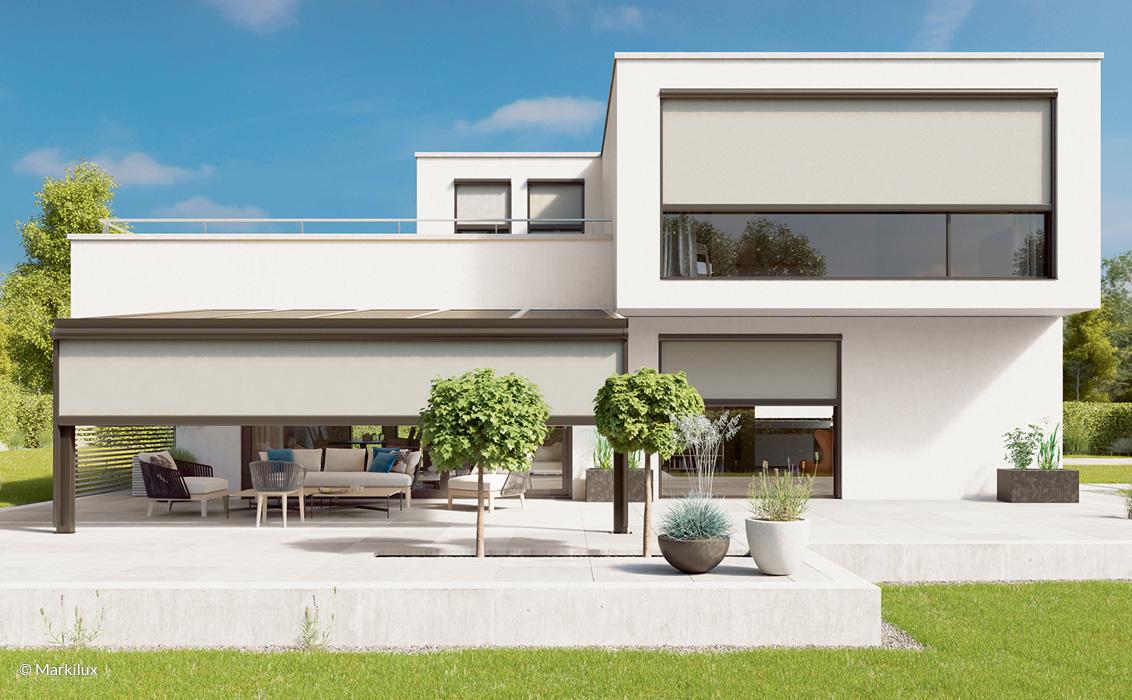 Fenster Markise - markilux 620 - Vertikal-Markise