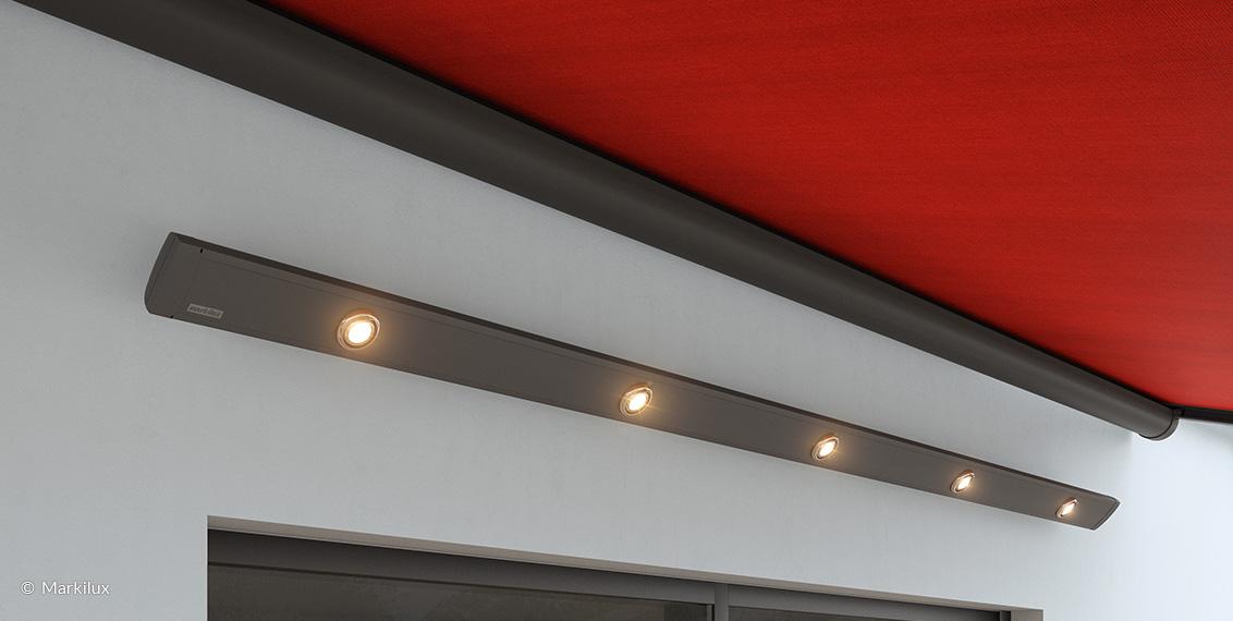 Markisenbeleuchtung: Die markilux LED-Spotline